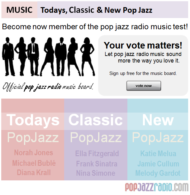 pop jazz radio music test board become a member now