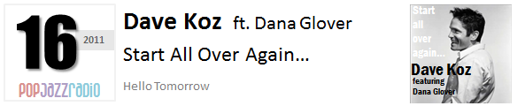 Pop Jazz Radio Charts top 16 (Best of 2011) Dave Koz ft. Dana Glover - Start All Over Again